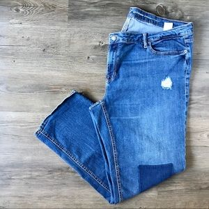 Old Navy Boyfriend Straight Distressed Jeans  *W11